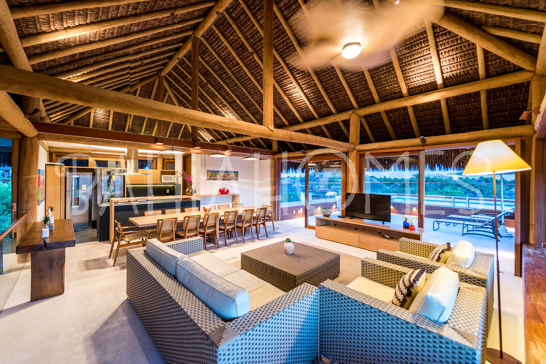 The House Was Designed To Interact With The Surrounding Landscape And Its  Architecture Has Many Wooden Structures, Glass And Thatched Roof, Which  Harmonise ...